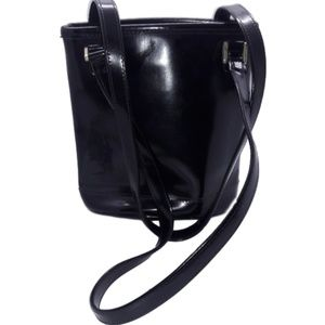 Vintage Liz Claiborne Small Black Bucket Bag